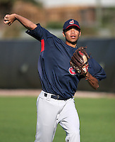 Cleveland Indians minor leaguer Jeanmar Gomez during Spring Training at the Chain of Lakes Complex on March 17, 2007 in Winter Haven, Florida.  (Mike Janes/Four Seam Images)