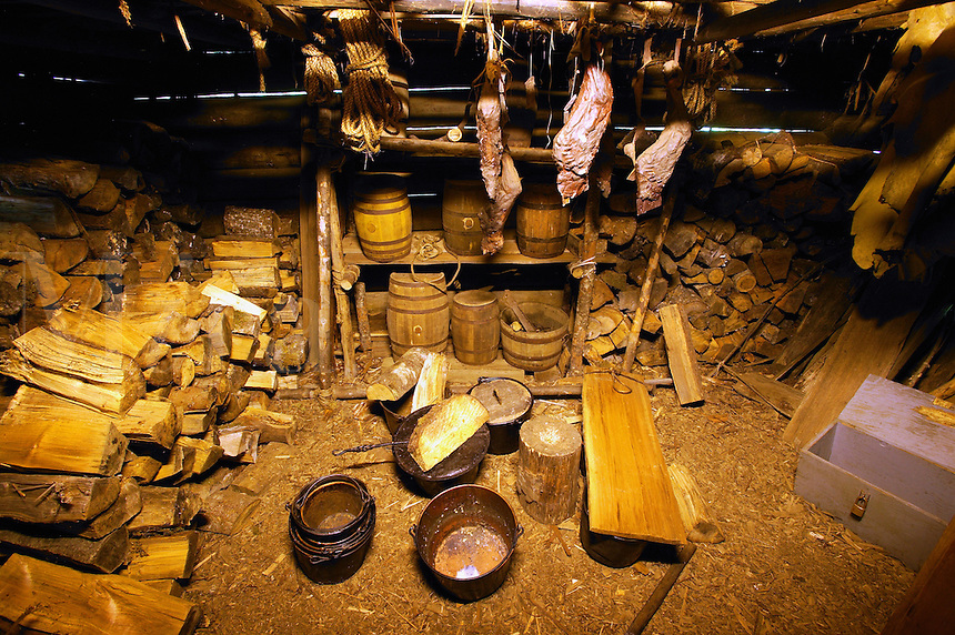 Supply Room at Fort Clatsop National Memorial, Oregon.