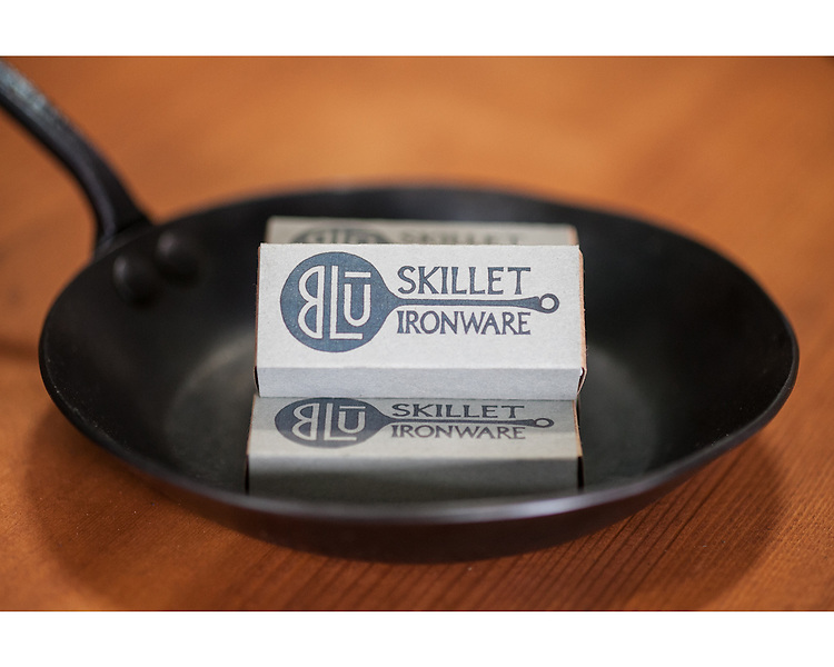 Artisanal blue steel cookware by Blu Skillet Ironware founded in Seattle, WA.