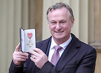 23 February 2017 - Michael O'Neill during an Investiture Ceremony at Buckingham Palace in London. Photo Credit: ALPR/AdMedia