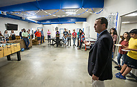 NWA Democrat-Gazette/BEN GOFF @NWABENGOFF<br /> Matt Taliaferro, Boys & Girls Club of Benton County CEO, speaks Thursday, June 6, 2019, during a grand opening for the new Teen Center across the street from the Boys & Girls Club in Rogers.