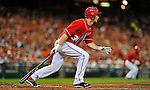 19 May 2012: Washington Nationals outfielder Bryce Harper in action against the Baltimore Orioles at Nationals Park in Washington, DC. The Orioles defeated the Nationals 6-5 in the second game of their 3-game series. Mandatory Credit: Ed Wolfstein Photo