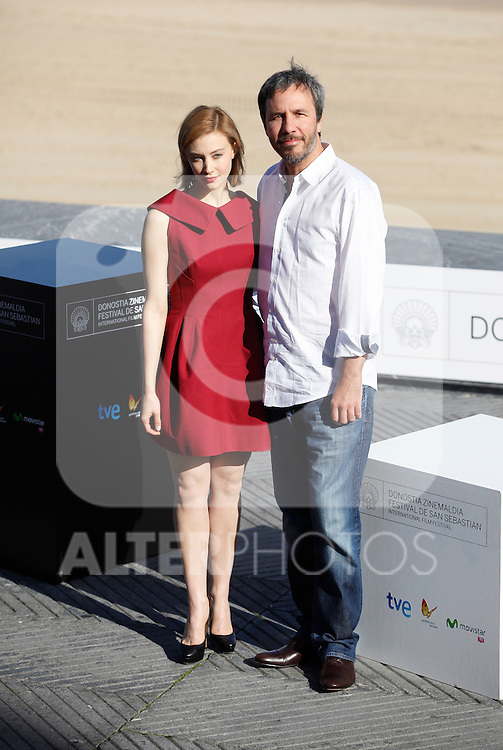 Actress Sarah Gadon and director Denis Villeneuve during the 61 San Sebastian Film Festival, in San Sebastian, Spain. September 21, 2013. (ALTERPHOTOS/Victor Blanco)