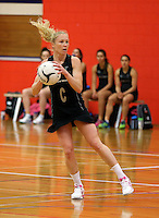30.10.2014 Silver Ferns Laura Langman in action during training ahead of the second test match in Palmerston North. Mandatory Photo Credit ©Michael Bradley.