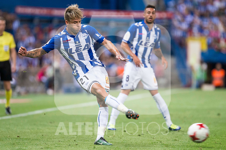 Deportivo Alaves's defender Kiko Femenia during Copa del Rey (King's Cup) Final between Deportivo Alaves and FC Barcelona at Vicente Calderon Stadium in Madrid, May 27, 2017. Spain.<br /> (ALTERPHOTOS/BorjaB.Hojas)