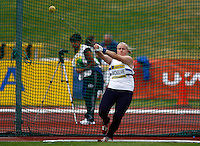 Photo: Richard Lane/Richard Lane Photography..Aviva World Trials & UK Championships athletics. 11/07/2009. Susan McKelvie in the women's hammer.