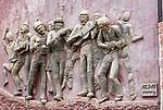 Cabo Verde, Kaap Verdie, KaapVerdie, Sao Vicente, San Vicente, Mindelo<br /> São Vicente is een eiland in het noordwesten van Kaapverdië, dat behoort tot de geografische regio Ilhas de Barlavento<br />  a stone carving on the wall<br />   foto  Michael Kooren