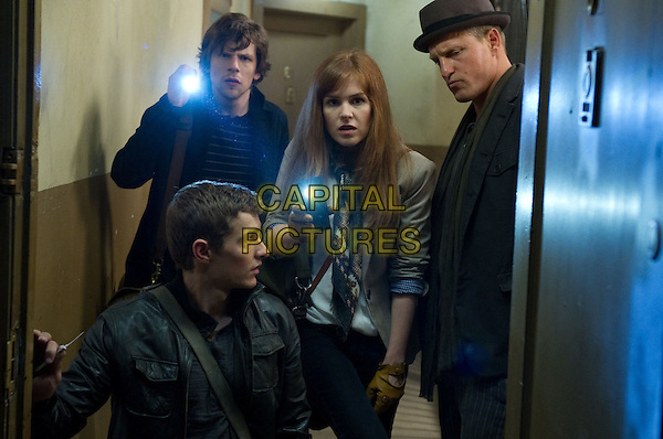 DAVE FRANCO, JESSE EISENBERG, ISLA FISHER and WOODY HARRELSON<br /> in Now You See Me (2013) <br /> *Filmstill - Editorial Use Only*<br /> CAP/NFS<br /> Image supplied by Capital Pictures
