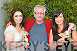 Marie Chawke, Graham Knuttel and Grainne Seoige with some pieces from artist Graham Knuttel exhibition in the Aghadoe Hotel, Killarney on Saturday   Copyright Kerry's Eye 2008