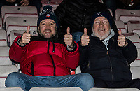 Bolton Wanderers' supporters enjoying the pre-match atmosphere <br /> <br /> Photographer Andrew Kearns/CameraSport<br /> <br /> The EFL Sky Bet League One - Lincoln City v Bolton Wanderers - Tuesday 14th January 2020  - LNER Stadium - Lincoln<br /> <br /> World Copyright © 2020 CameraSport. All rights reserved. 43 Linden Ave. Countesthorpe. Leicester. England. LE8 5PG - Tel: +44 (0) 116 277 4147 - admin@camerasport.com - www.camerasport.com