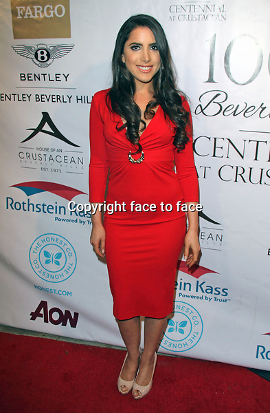 BEVERLY HILLS, CA - February 05: Caren Brooks at Experience East Meets West honoring Beverly Hills' momentous centennial year, Crustacean, Beverly Hills, February 05, 2014. Credit: Janice Ogata/MediaPunch Inc.<br />