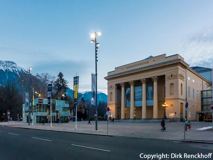 klassizistisches Tiroler Landestheater, Innsbruck, Tirol, Österreich