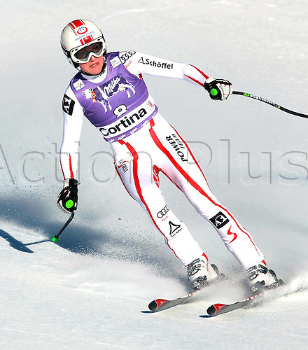 22.01.2011 FIS Downhill Ski World Cup from Cortina in Italy. Picture shows Andrea Fischbacher AUT