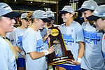 ATHENS, GA - MAY 23: The University of Florida celebrates after defeating Stanford University during the Division I Women's Tennis Championship held at the Dan Magill Tennis Complex on the University of Georgia campus on May 23, 2017 in Athens, Georgia. (Photo by Steve Nowland/NCAA Photos via Getty Images)