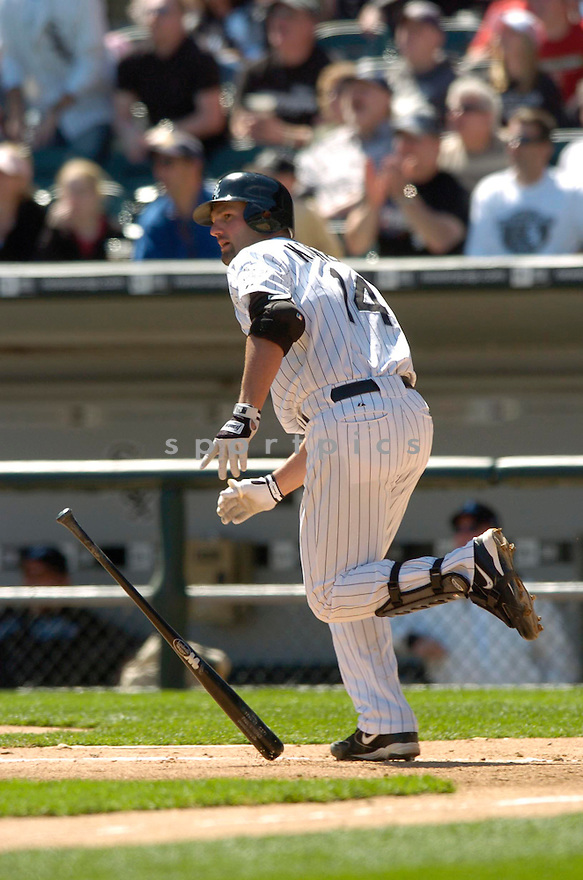 Paul Konerko, of the Chicago White Sox, during their game against the Toronto Blue Jay o  April 15, 2006 in Chicago...Sox win 4-2..David Durochik / SportPics
