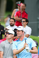 Webb Simpson (USA) watches his tee shot on 3 during round 4 of the Dean &amp; Deluca Invitational, at The Colonial, Ft. Worth, Texas, USA. 5/28/2017.<br /> Picture: Golffile | Ken Murray<br /> <br /> <br /> All photo usage must carry mandatory copyright credit (&copy; Golffile | Ken Murray)