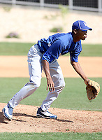 Elisaul Pimentel, Los Angeles Dodgers 2010 minor league spring training..Photo by:  Bill Mitchell/Four Seam Images.