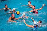 EGGENS Monika CAN, EMMOLO Giulia ITA<br /> ITA (white cap) -  CAN (blue cap)<br /> Water Polo<br /> Day03  16/07/2017 <br /> XVII FINA World Championships Aquatics<br /> Alfred Hajos Complex Margaret Island  <br /> Budapest Hungary July 15th - 30th 2017 <br /> Photo @ Deepbluemedia/Insidefoto