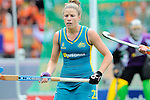 The Hague, Netherlands, June 14: Kate Jenner #22 of Australia looks on during the field hockey gold medal match (Women) between Australia and The Netherlands on June 14, 2014 during the World Cup 2014 at Kyocera Stadium in The Hague, Netherlands. Final score 2-0 (2-0)  (Photo by Dirk Markgraf / www.265-images.com) *** Local caption ***
