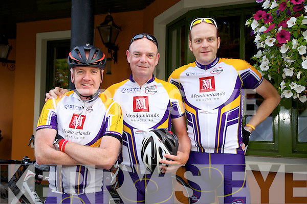 Ian Duggan, Richie O'Sullivan, Don Willis The Chain Gang Sportives cycle starting at the Meadowlands Hotel on Saturday