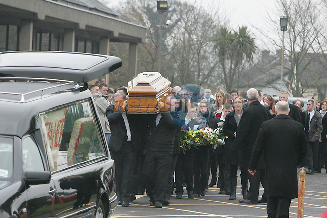 The Funeral of Roy Codington at the Holy family church in Drogheda. Roy was shot dead in Mornington on Thursday evening of last week..Photo: Fran Caffrey/ Newsfile.