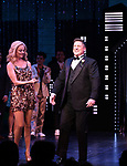 "Angie Schworer and Christopher Sieber during the Broadway Opening Night Curtain Call of ""The Prom"" at The Longacre Theatre on November 15, 2018 in New York City."