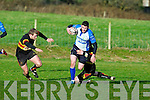 Tralee's Keith Matthews in action against Old Christians at O'Dowd park, Tralee on Saturday.