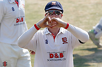 Simon harmer of Essex cricket celebrates taking eight wickets during Essex CCC vs Surrey CCC, Bob Willis Trophy Cricket at The Cloudfm County Ground on 11th August 2020