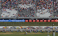 Nov. 1, 2009; Talladega, AL, USA; NASCAR Sprint Cup Series driver Jeff Gordon (24) leads the field during the Amp Energy 500 at the Talladega Superspeedway. Mandatory Credit: Mark J. Rebilas-