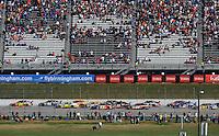 Nov. 1, 2009; Talladega, AL, USA; NASCAR Sprint Cup Series driver Jeff Gordon (24) leads the field during the Amp Energy 500 at the Talladega Superspeedway. Mandatory Credit: Mark J. Rebilas-