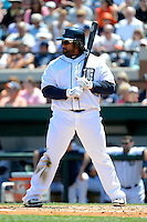 Detroit Tigers first baseman Prince Fielder #28 during a Spring Training game against the Tampa Bay Rays at Joker Marchant Stadium on March 29, 2013 in Lakeland, Florida.  (Mike Janes/Four Seam Images)