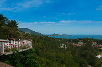 Lamai Viewpoint sign in observation deck, Samui island, Thailand