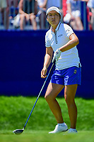 Candie Kung (TPE) watches her tee shot on 1 during Sunday's final round of the 2017 KPMG Women's PGA Championship, at Olympia Fields Country Club, Olympia Fields, Illinois. 7/2/2017.<br /> Picture: Golffile | Ken Murray<br /> <br /> <br /> All photo usage must carry mandatory copyright credit (&copy; Golffile | Ken Murray)