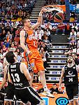 """Basketball - Liga Endesa ACB.<br /> Valencia Basket (66)vs(63) Gescrap Bizcaia.<br /> La Fuente de San Luis """"La Fonteta"""" Pavillion.<br /> 22 - April - 2012"""