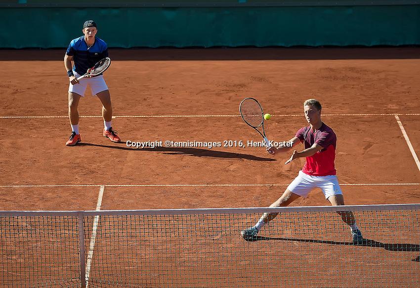 The Hague, Netherlands, 31 July, 2016, Tennis,  The Hague Open, Doubles Final: Tallon Griekspoor (NED) / Tim van Rijthoven (NED) (R)<br /> Photo: Henk Koster/tennisimages.com