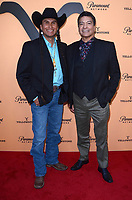 "LOS ANGELES, CA - MAY 30: Mo Brings Plenty, Gil Birmingham at the premiere party for Paramount Network's ""Yellowstone"" Season 2 at Lombardi House on May 30, 2019 in Los Angeles, California. <br /> CAP/MPI/DE<br /> ©DE//MPI/Capital Pictures"