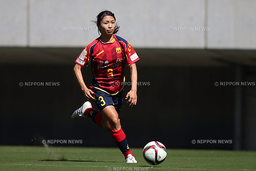 Aya Sameshima (INAC), SEPTEMBER 22, 2015 - Football / Soccer : Aya Sameshima of INAC runs with the ball during the Nadeshiko League Regular Series match between JEF United Ichihara Chiba Ladies and INAC Kobe Leonessa at Fukuda Denshi Arena in Chiba, Japan (Photo by AFLO)