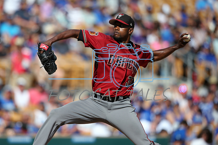 Images from the Arizona Diamondbacks and the Los Angeles Dodgers spring training game in Glendale, Ariz., on Friday, March 24, 2017.<br /> Photo by Cathleen Allison/Nevada Photo Source