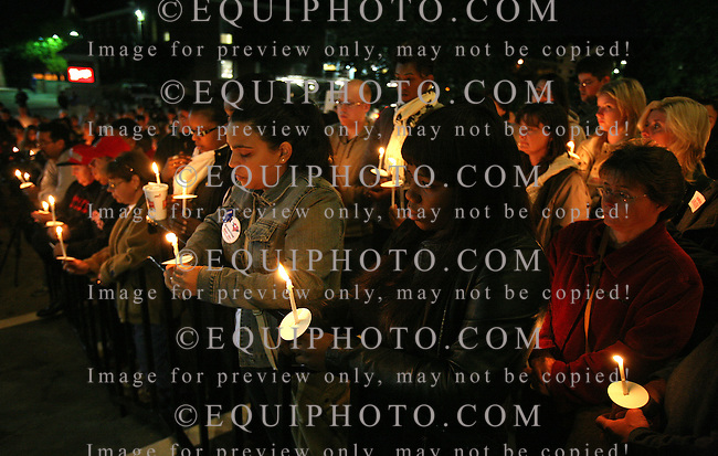 Students and Faculty of Rutgers University gather for a candlelight vigil on Sunday night October 3, 2010 outside the Brower Commons on the Rutgers Campus in New Brunswick, N.J. to honor the memory of Tyler Clementi, the Rutgers student who took his life after being videotaped having sex in his dorm room by his roomate.