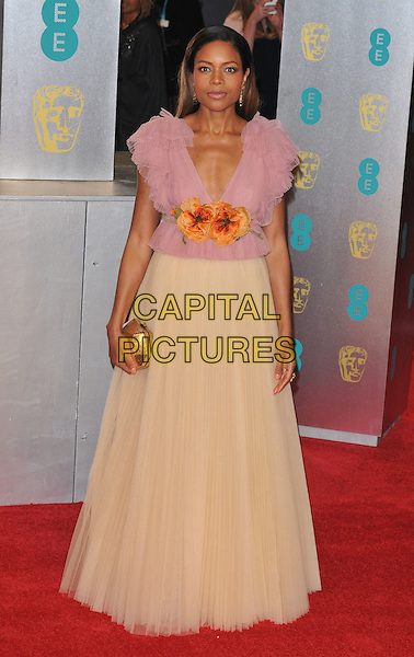 Naomie Harris at the EE British Academy Film Awards (BAFTAs) 2017, Royal Albert Hall, Kensington Gore, London, England, UK, on Sunday 12 February 2017.<br /> CAP/CAN<br /> &copy;CAN/Capital Pictures