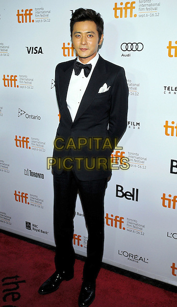 "Shawn Dou.""Dangerous Liasions'"" Premiere - 2012 Toronto International Film Festival held at Ryerson Theatre, Toronto, Ontario, Canada..September 10th, 2012.TIFF full length black tuxedo white shirt bow tie .CAP/ADM/BPC.©Brent Perniac/AdMedia/Capital Pictures."