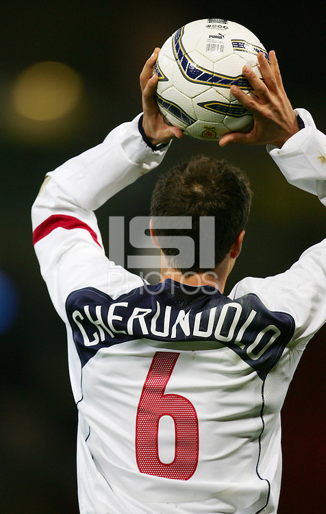 Steve Cherundolo of USA takes a throw-in