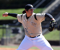 March 7, 2010:  Pitcher Alex Besaw of the Central Florida Knights during game at Jay Bergman Field in Orlando, FL.  Central Florida lost to Central Michigan by the score of 7-4.  Photo By Mike Janes/Four Seam Images