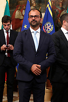 Minister of Instruction Lorenzo Fioramonti<br /> Rome September 5th 2019. Palazzo Chigi. Ceremony of the bell for the new appointed premier.<br /> Foto  Samantha Zucchi Insidefoto