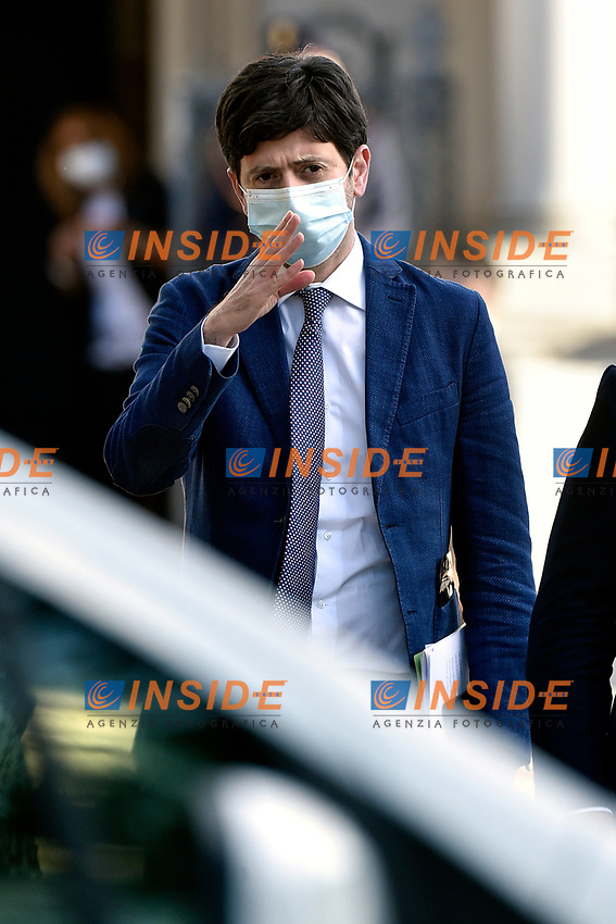 The Italian Minister of Health Roberto Speranza arrives at the press conference of the Italian Premier at Casino del Bel Respiro, Villa Pamphili, at the end of the General States of Economy. Rome (Italy), June 21st 2020<br /> Pool Paolo Tre/Insidefoto