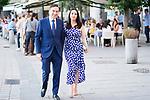 Journalist Pedro J Ramirez and his girlfriend Maricruz Valverde arrives to Teatro Real. July 30, 2019. (ALTERPHOTOS/Francis González)