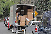 Boxes in the truck that are going into the home at 2446 Belmont Road, NW; Washington, DC in the Kalorama neighborhood of Northwest Washington where where United States President Barack Obama and his family will reside after he leaves office.<br /> Credit: Ron Sachs / CNP<br /> (RESTRICTION: NO New York or New Jersey Newspapers or newspapers within a 75 mile radius of New York City)