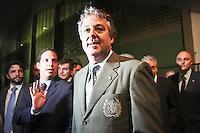 SAO PAULO, SP, 21 DE JANEIRO 2013 - ELEIÇÃO PALMEIRAS -Paulo Nobre, eleito novo presidente do Palmeiras, na capital paulista, nesta segunda-feira. Empresário de 44 anos, conselheiro do clube desde 1997, ele derrotou o candidato Décio Perin por 153 votos a 106. (FOTO: ALE VIANNA / BRAZIL PHOTO PRESS).