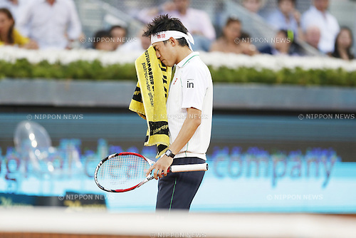 Kei Nishikori (JPN), MAY 11, 2014 - Tennis : Kei Nishikori of Japan during the men's singles final match of the Mutua Madrid Open tennis tournament at the La Caja Magica in Madrid, Spain, May 11, 2014. (Photo by AFLO)