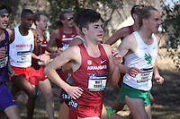 NWA Democrat-Gazette/DAVID GOTTSCHALK University of Arkansas Cross Country runner Matt Young competes Friday, November 15, 2019, at the NCAA South Regional at the Agri Park course in Fayetteville. The Razorback men finished second overall in the team division.